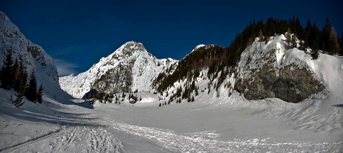 Krnska Lakes In Winter