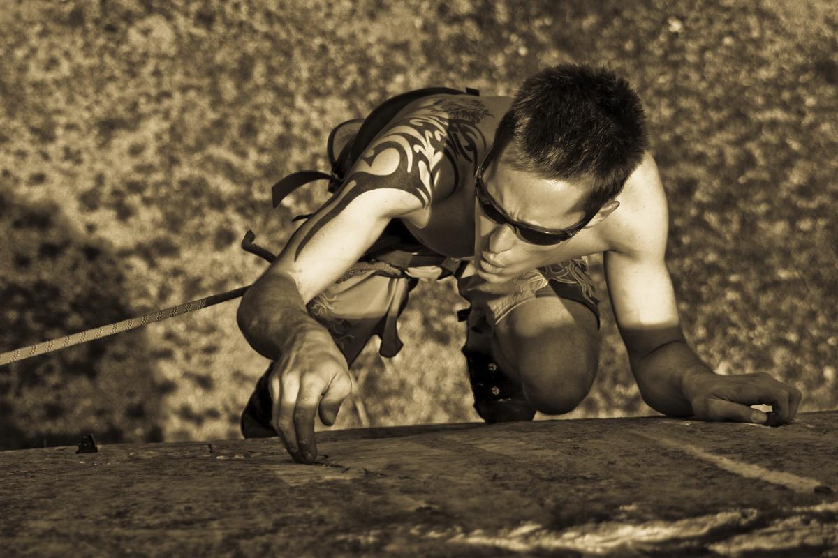 Mitja Batagelj Climbing